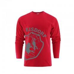 Longsleeve Eisdorf Logo Rot